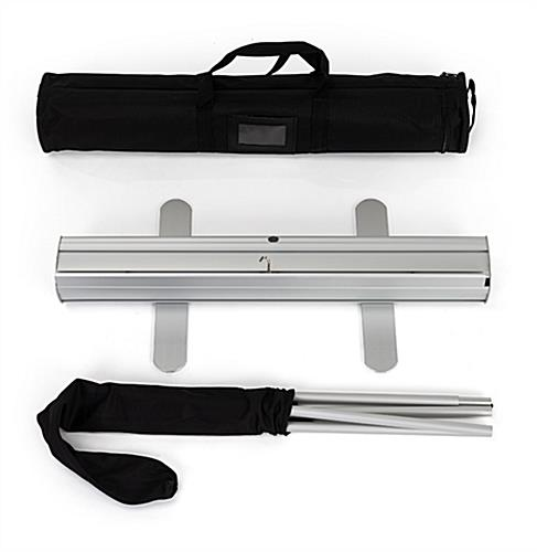 "Budget 24""x80"" banner hardware and carrying case"
