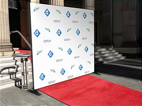 Step and repeat banner frame for photography at special events