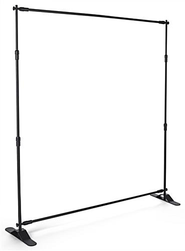 Step and repeat promo booth kit with adjustable frame and sturdy feet