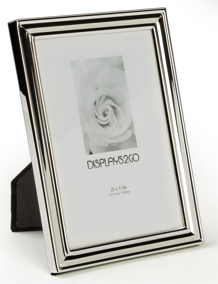 small silver picture frames 5 x 7 photo holders. Black Bedroom Furniture Sets. Home Design Ideas
