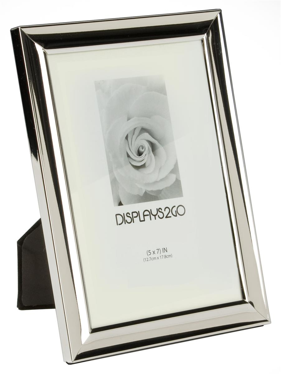 small silver picture frame 5 x 7 photo holder. Black Bedroom Furniture Sets. Home Design Ideas