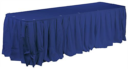 Hotel Table Linen Comes With A Table Topper, Skirting And Clips