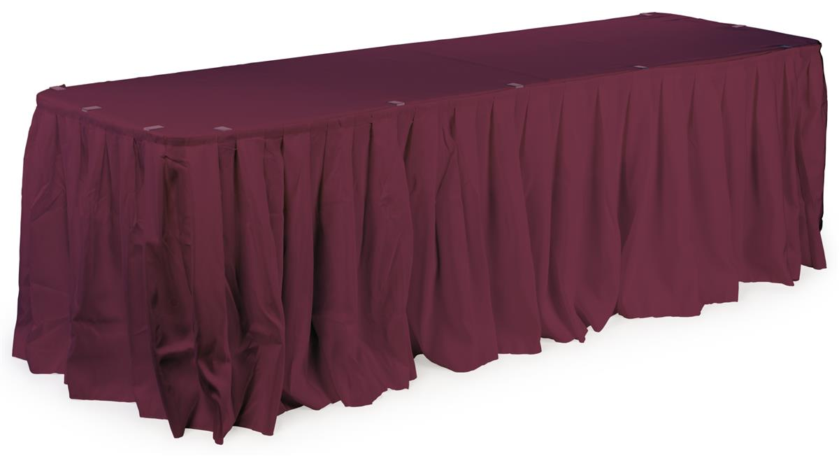 banquet table skirting box pleated for