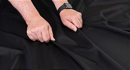 tear resistant black table linens