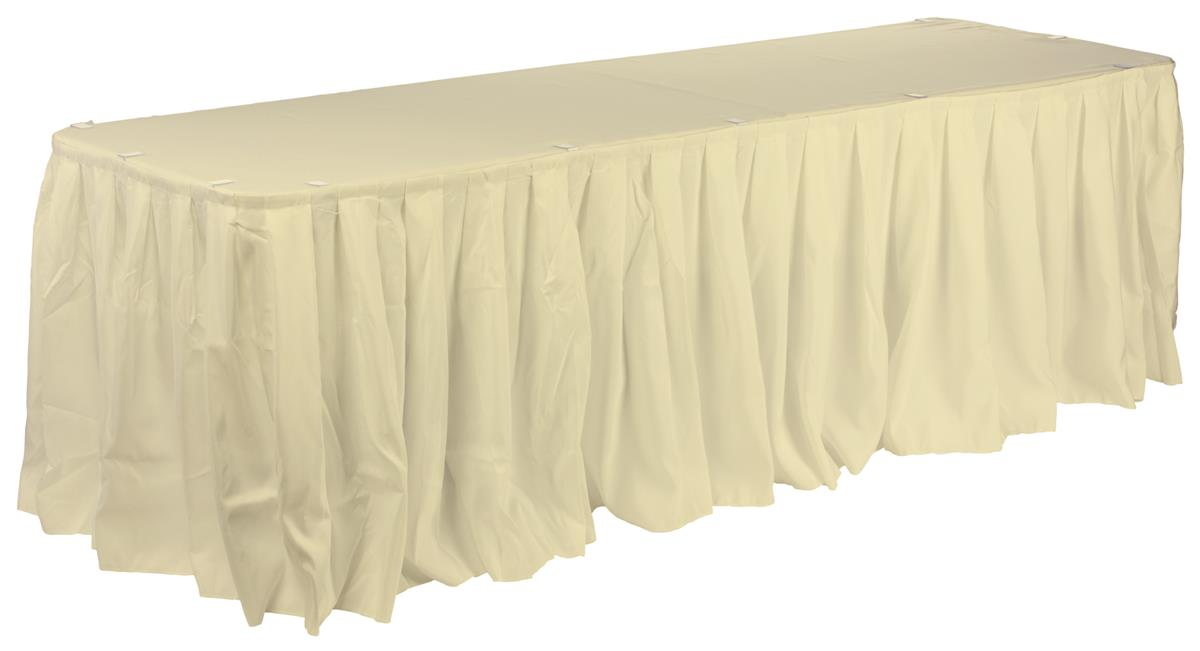 Ivory Table Cloth Skirting Included For Rectangular Tables