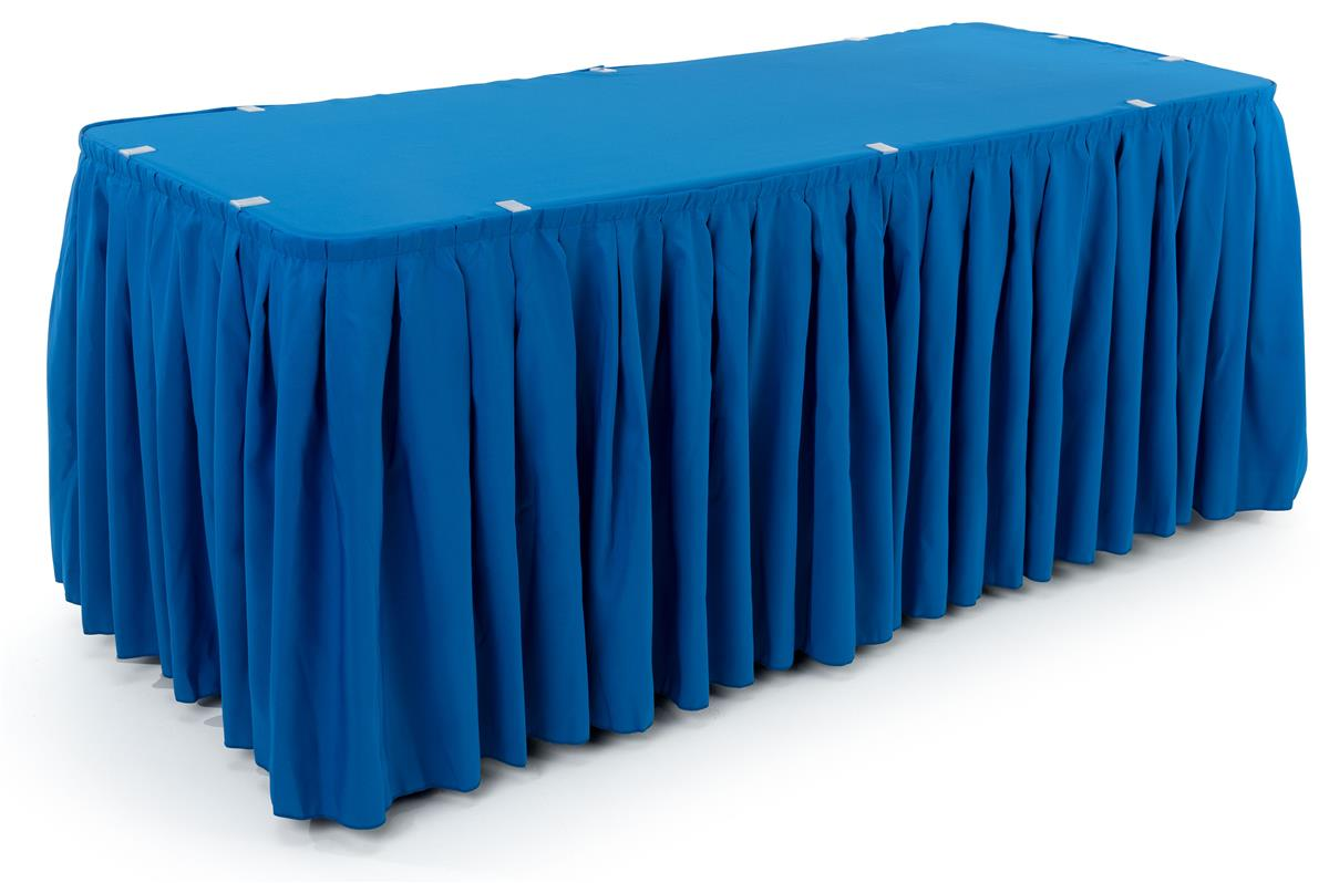 Awe Inspiring 6 Table Topper With Pleated Skirt Blue Download Free Architecture Designs Scobabritishbridgeorg