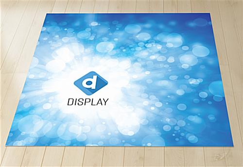 Digital dye sub carpet with 2 strips each 5ft wide by 10ft long