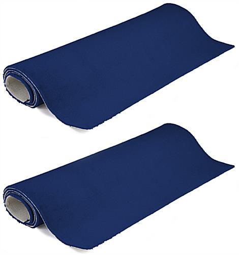 10' x 10' blue carpet for trade show booth in set of (2) 5' x 10' strips