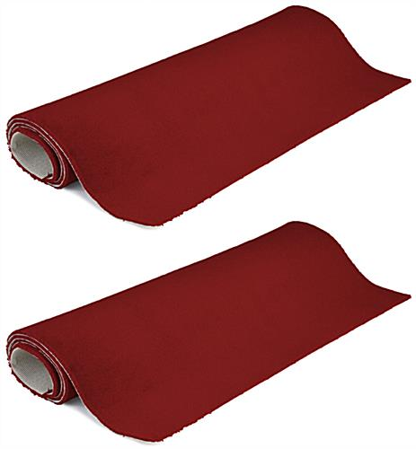 10' x 10' rollable red carpet in set of 2 strips