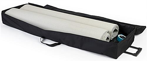 10' x 20' exhibit booth roll carpet shown with travel bag