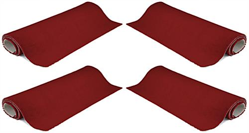 20' red carpet roll in set of (4) 5' x 10' strips for multiple configurations
