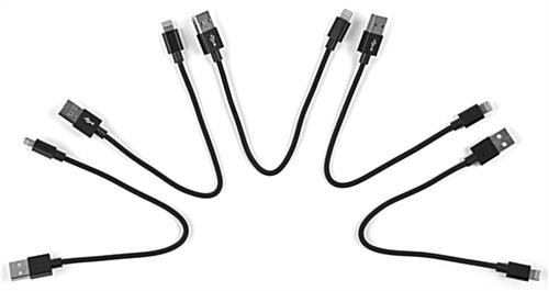 Black USB to Lightning cable group