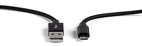Micro USB charging cord is essential when traveling