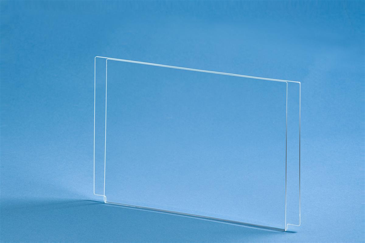 Fold Over Sign Frame Acrylic Poster Holder For Cable System