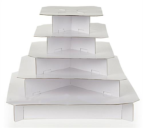 rectangle wedding cake stand square cupcake stand classic white 5 tier cardboard 19060