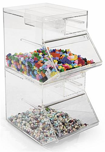 Stacking Design Plastic Display Container