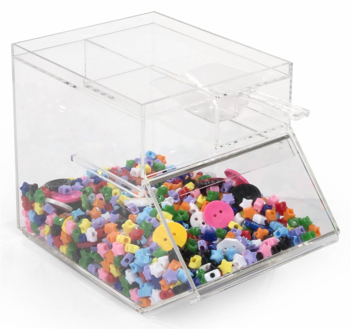 Clear Plastic Countertop Bins   Acrylic & PVC Storage Organizers