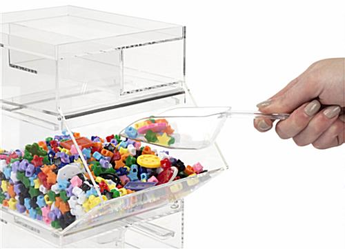 Plastic Candy Jar with Slot for Scoop