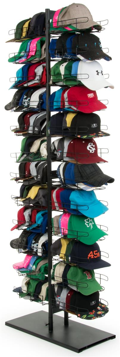 Fitted Hat Rack Holds Up To 240 Caps