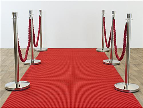 Red carpet runner for special events