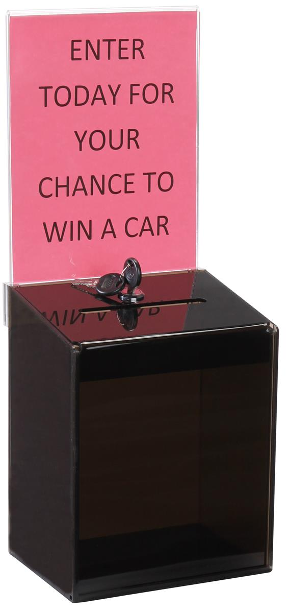 Smoked Color Acrylic Ballot Boxes 6 1 2 Quot W X 8 Quot H Removable