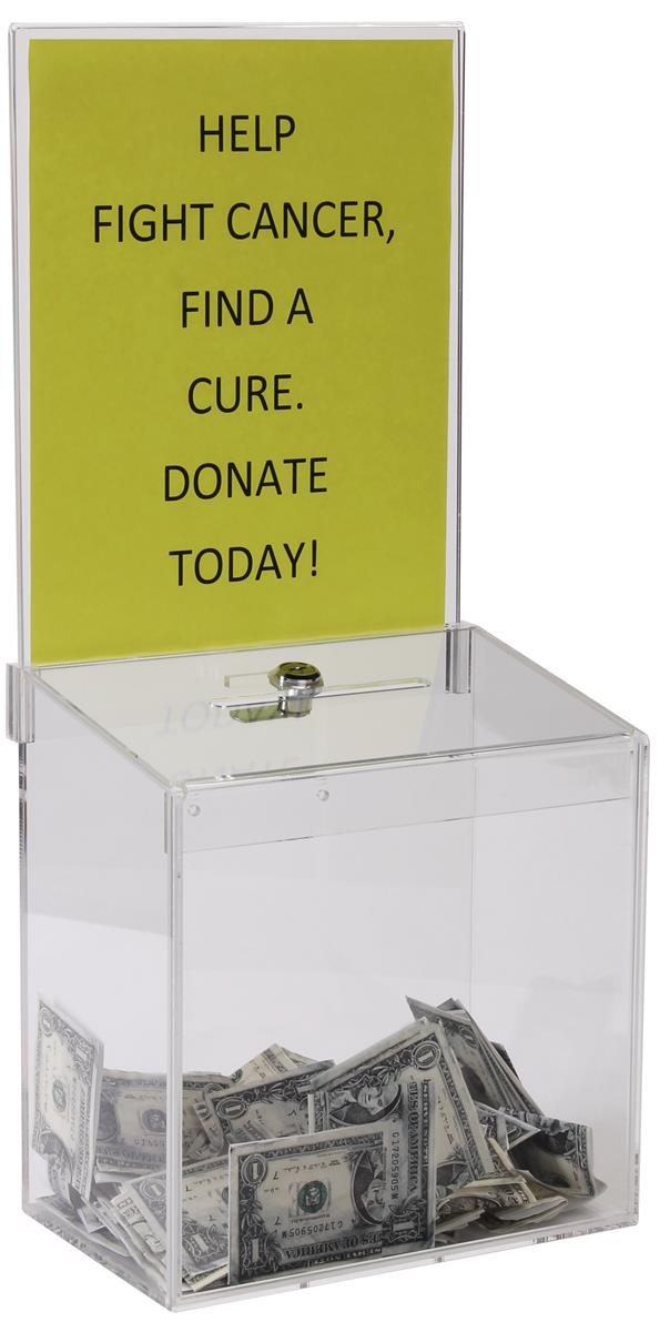 Clear Acrylic Suggestion Box Large Sign Holder Area