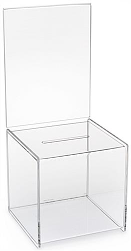 Acrylic Suggestion Box With Header Clear Suggestion Cube