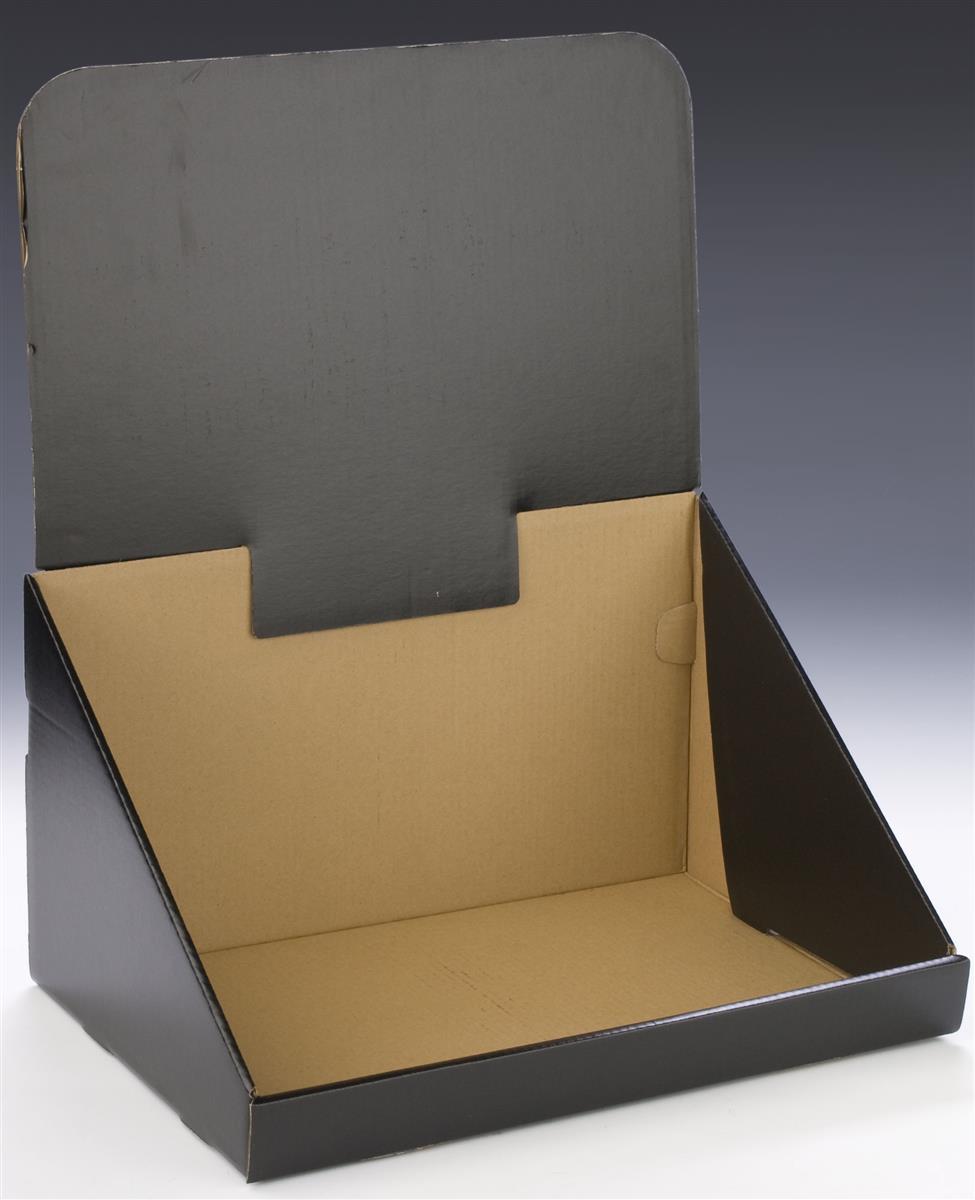 Corrugated Countertop Bin Black