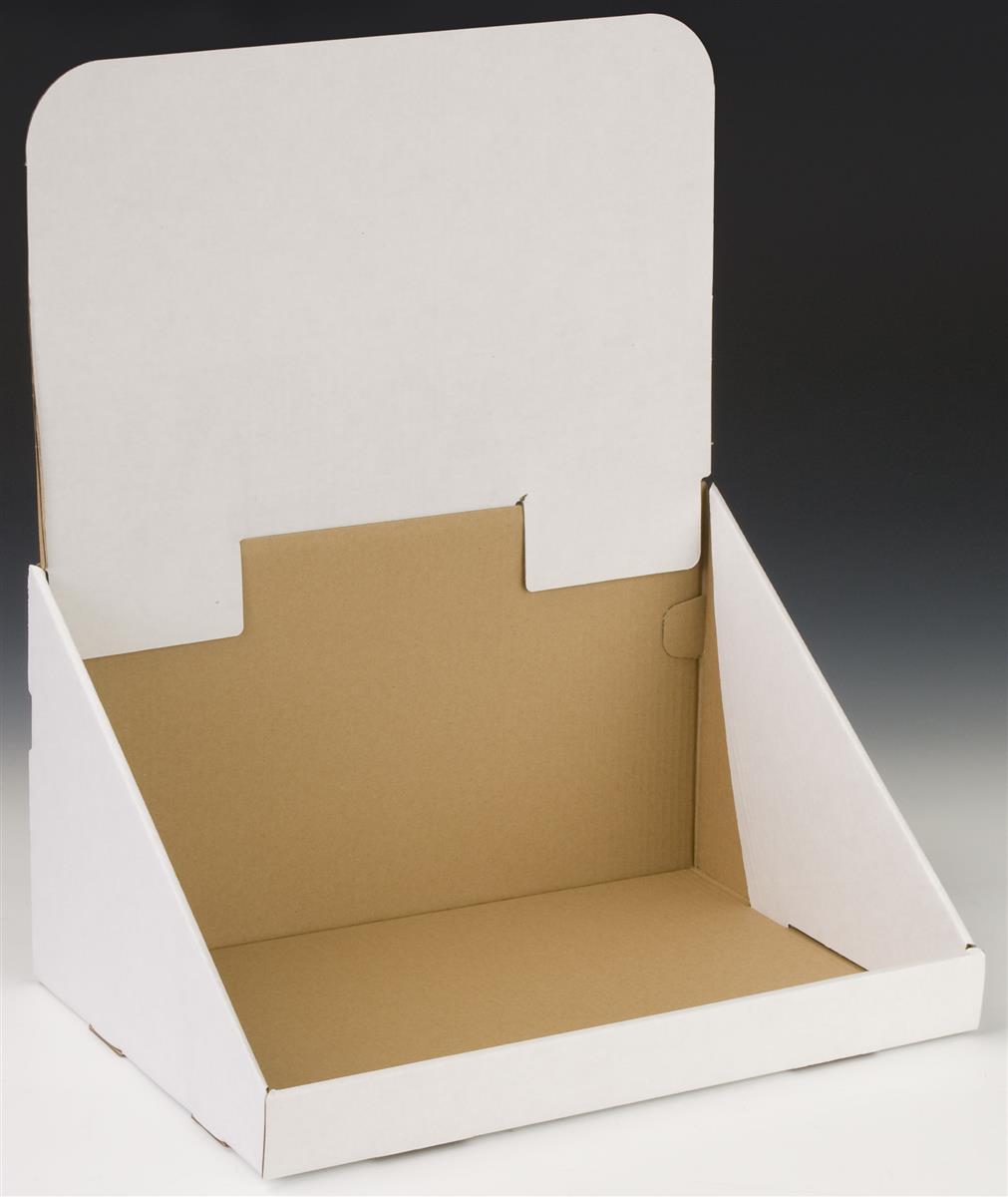 Oversize Cardboard Countertop Bin 22 5 H White Counter