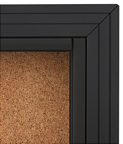 Black Cork Board 4 X 3 W Sliding Doors