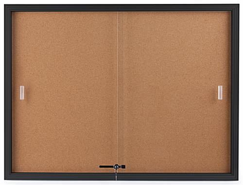 Black Cork Board ... & Black Cork Board - 4u0027 x 3u0027 w/ Sliding Doors