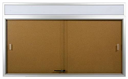 5 X 3 Enclosed Notice Board Sliding Glass Door