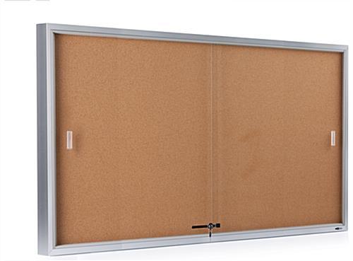 5 X 3 Enclosed Silver Bulletin Board Sliding Glass Doors
