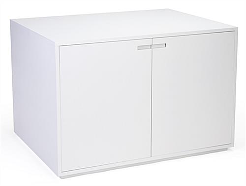 White storage nested cabinet table