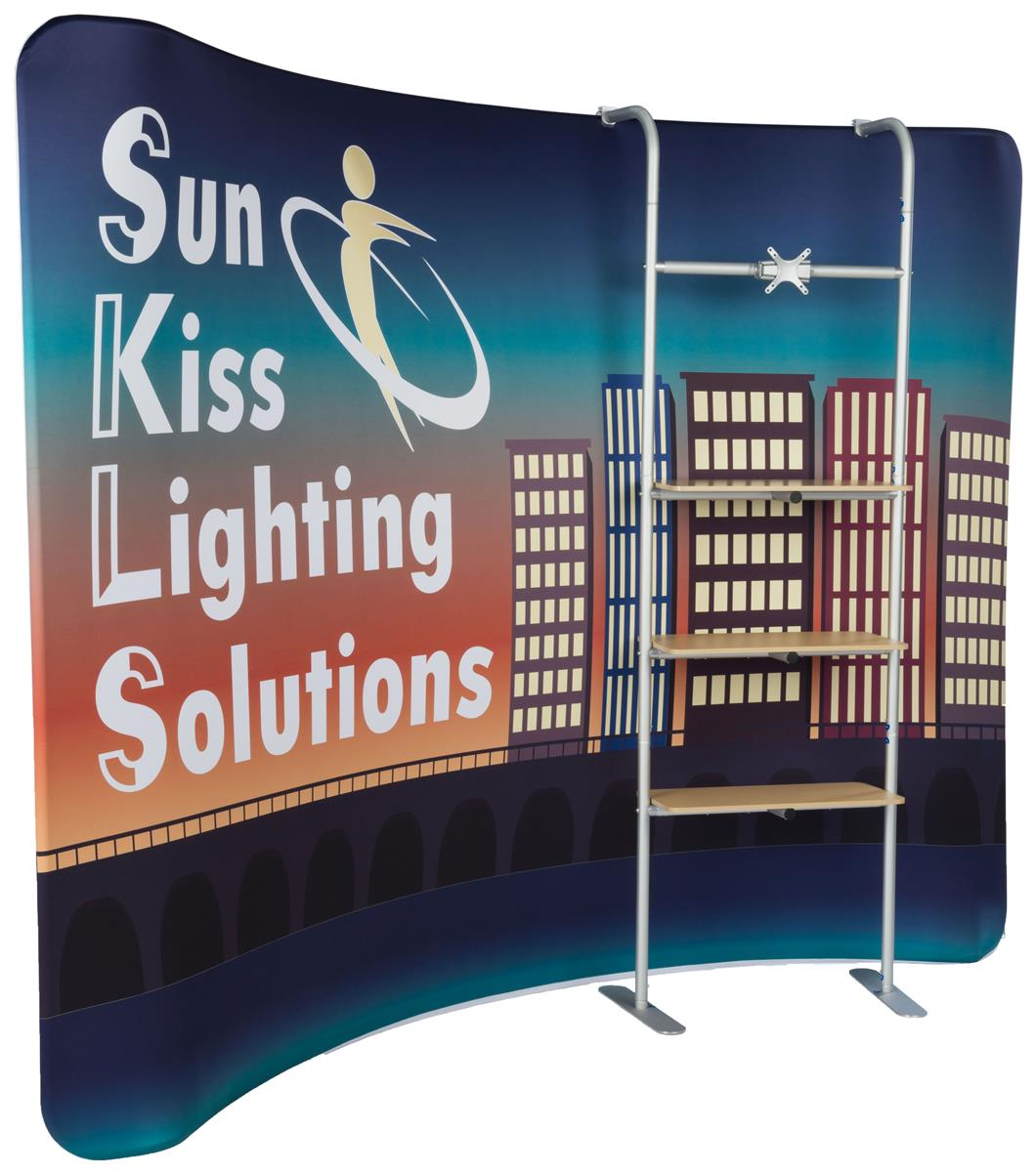 Expo Wall System 10 Curved Booth Backdrop