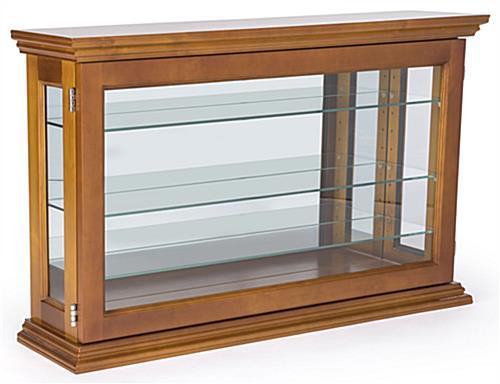 Merveilleux ... Unpropped Oak Mirror Back Countertop Curio Cabinet ...