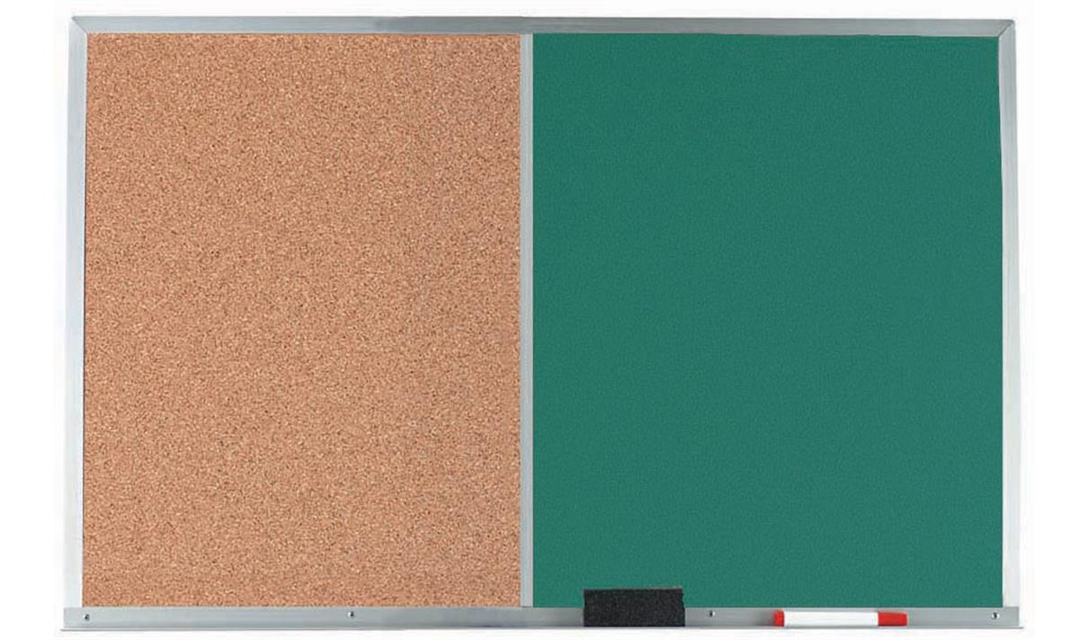 2 39 x 1 5 39 cork and chalkboard aluminum. Black Bedroom Furniture Sets. Home Design Ideas