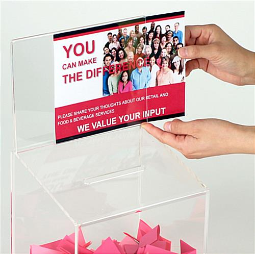 Suggestion Drop Boxes: w/ Key Lock And Sign Holder