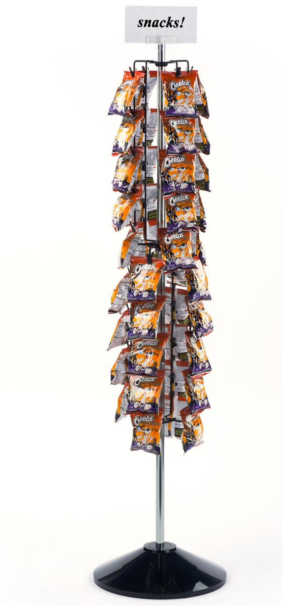 Chip Clip Rack Floor Standing Amp Revolving Pop Stand