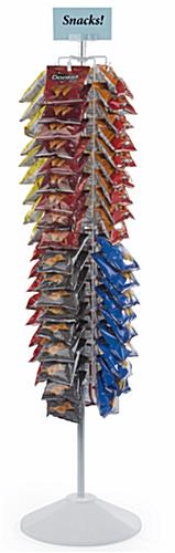 Snack Rack Carousel with 2 Spinning Tiers