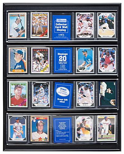 Baseball Card Frame 20 Slot Wall Mount Display