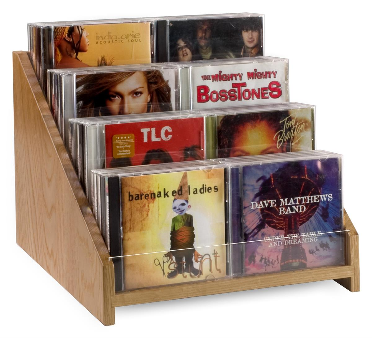 CD/DVD Holders for Retail Display Feature Countertop Design