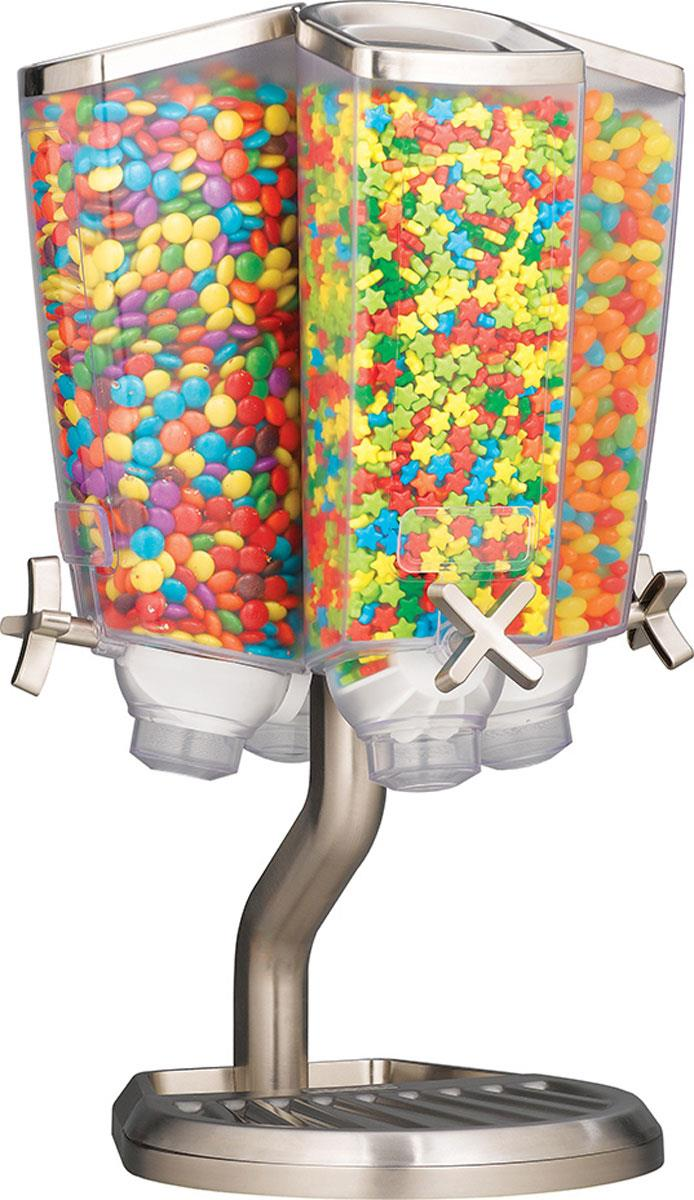 4 Cell Candy Dispenser Rotating Fixture W Stainless