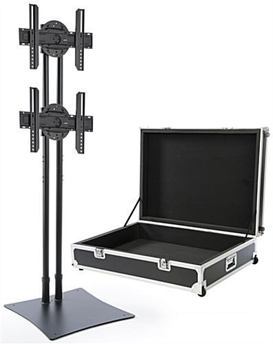 multi led tv stand large travel case on wheels. Black Bedroom Furniture Sets. Home Design Ideas