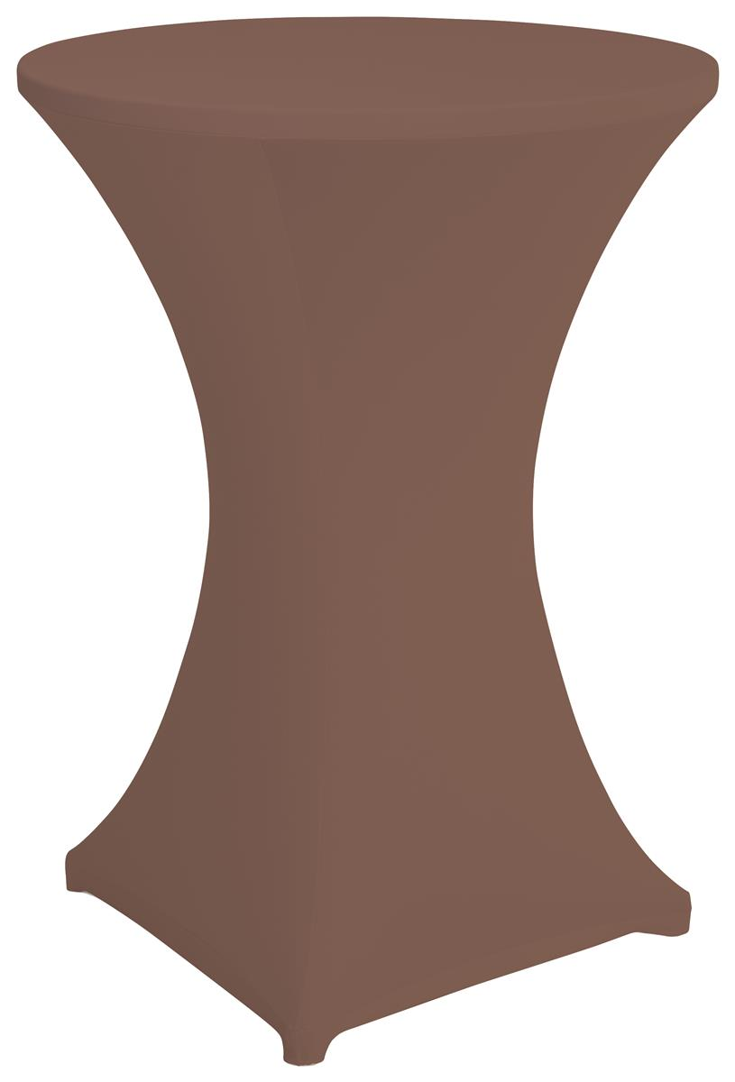 Brown bar height spandex table cover