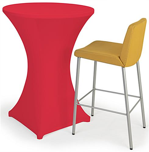 31 inch x 42 inch bar height spandex table cover