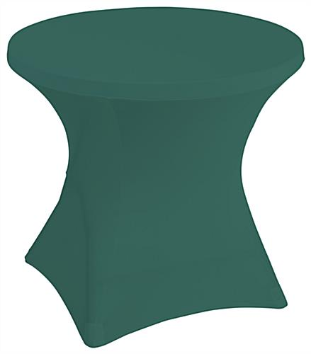 Stretch polyester tablecloths or 31 inch wide round tables