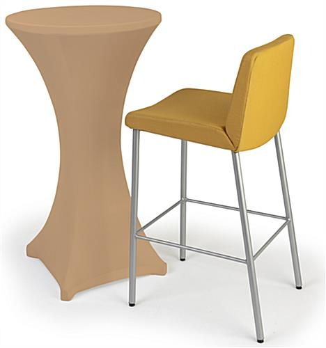 Tan cocktail table spandex cover with easy machine washable cleaning