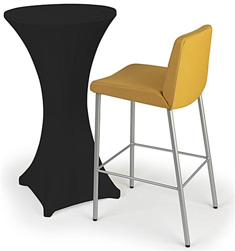 Cocktail table spandex cover with snug fit