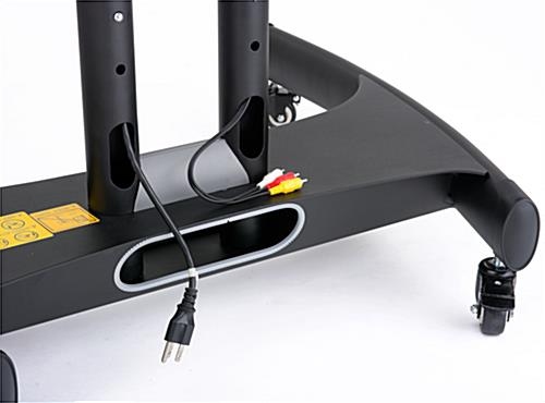 Conference TV Cart with Cable Management